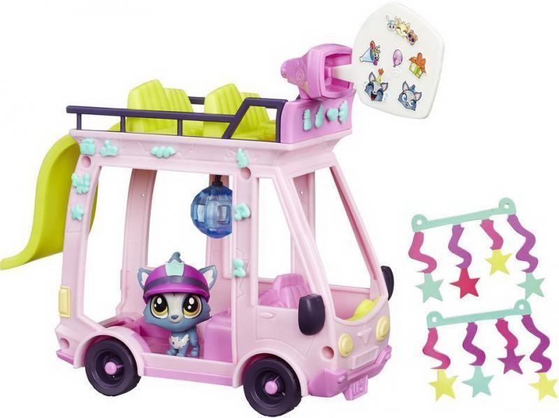 Игровой набор HASBRO Littlest Pet Shop Автобус B3806 hasbro littlest pet shop b6625 литлс пет шоп набор зверюшек малышей
