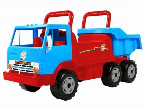 Каталка-самосвал Rich Toys Intercooler с кузовом, 6 колёс пластик от 10 месяцев сине/красная ОР412 rt ор211 каталка самосвал маг с кузовом 6 колёс зеленая