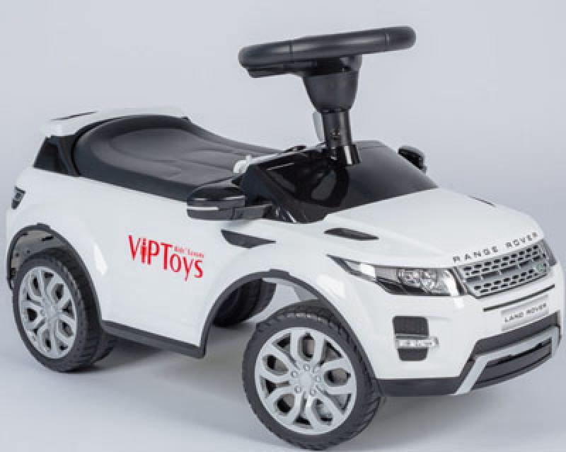 Каталка-машинка R-Toys Land Rover Evoque пластик от 1 года музыкальная белый