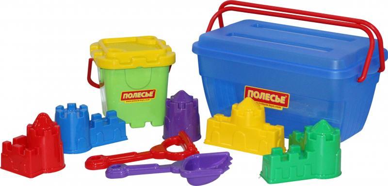 Песочный набор Полесье в контейнере 500 6 предметов песочный набор wader тигрес замок 5 предметов
