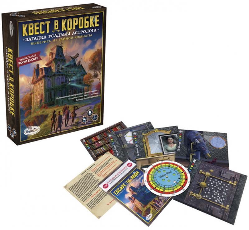 Настольная игра развивающая Think Fun Загадка усадьбы астролога настольная игра загадка леонардо quintis fontis пятый ключ