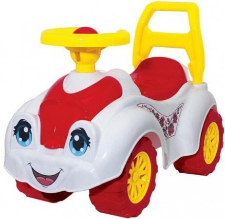 Каталка-машинка Rich Toys Zoo Animal Planet Заяц пластик от 8 месяцев на колесах бело-розовый Т3503к цена