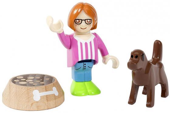 Игровой набор Brio с человечком, собакой и миской brio погрузчик с подъемником