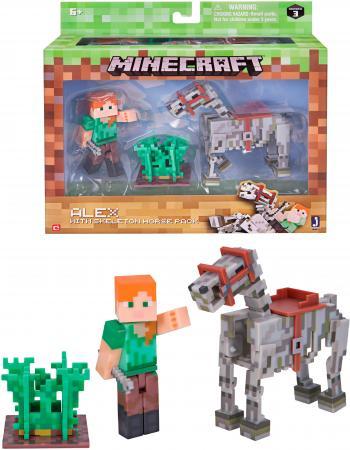 цена на Игровой набор Minecraft Алекс с скелетом лошади 3 предм.,24х21х5см,кор.