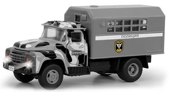 Интерактивная игрушка Play Smart грузовик(ОМОН) от 3 лет серый развивающая игрушка play smart каталка кит вертолет разноцветный