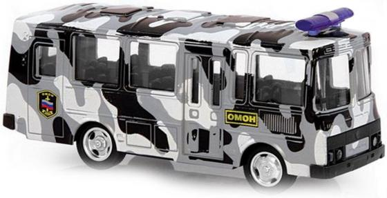 Фото - Инерционная металлическая машинка Play Smart 1:61 автобус(ОМОН) 15,5x6x7,65см конструктор nd play автомобильный парк 265 608