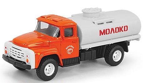 Инерционная металлическая машинка Play Smart 1:52 грузовик(молоко) 16x6x7,65см автомат play smart снайпер р41399