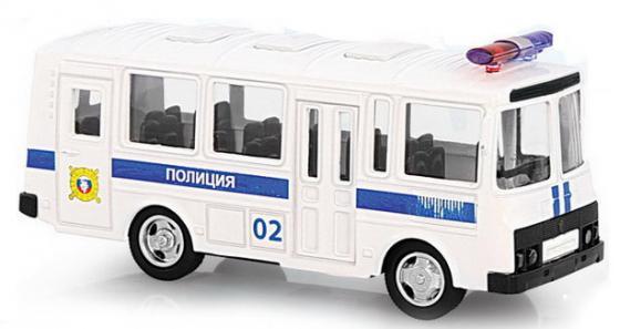 Инерционная металлическая машинка Play Smart 1:61 автобус(полиция) 15,5x6x7,65см автомат play smart снайпер р41399