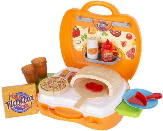 Игровой набор 1toy Мастер-Шеф Пицца,22 предмета , посуда, пицца, 2 выдвижн,столика,наклейки (в чем игрушечная посуда 1toy игровой чайный сервиз я сама 1toy