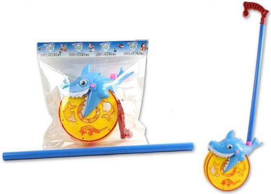 Каталка на палочке S+S Toys Веселая акула 28,5х31х10см s s toys каталка мотоцикл