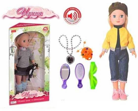 Кукла Zhorya с аксс., звук, фразы, песенка 22,5х16х5х41см кукла zhorya ирина х76251