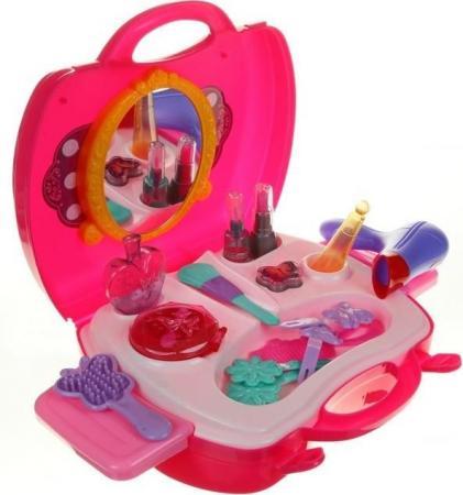 Игровой набор 1toy Профи Стилист,21 предмет, фен, муляжи косметики, 2 выдвижн,столика,наклейки 1toy игровой набор профи малыш цвет красный голубой зеленый