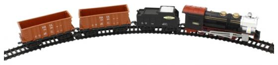Железная дорога 1toy Восточный Экспресс320см.,12дет.,свет,звук,паровоз,тендер, 2 платформы-контейн телевизор haier le32k6000s page 5