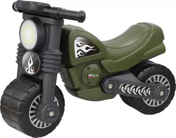 Каталка-мотоцикл Wader Моторбайк пластик от 18 месяцев военный 48738 цена