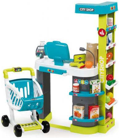 Игровой набор Smoby Супермаркет игровой City Shop, св,зв, 59,5х32х86см, 1/1 350207 smoby горка xl