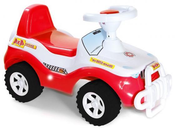 цены Каталка-машинка R-Toys Джипик пластик от 8 месяцев с клаксоном красная ОР105к