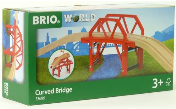 Игровой набор Brio Изогнутый мост,4 дет.,58х15х11см,кор. машины brio игровой набор погрузчик с грузом 4 элемента