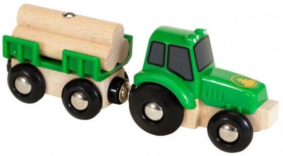 Трактор с бревнами Brio железные дороги brio игрушка вагон с бревнами 4 элемента