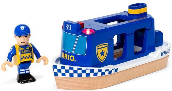 Игровой набор Brio Полицейский катер,2 эл.,свет,звук,19х7х10см,кор. железная дорога brio полицейский транспорт 19 эл 37х9х19см кор