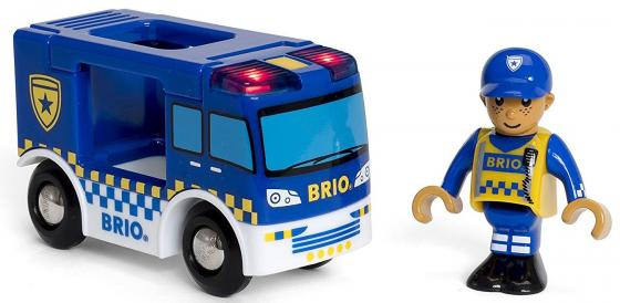 Игровой набор Brio фургон Полиция,2 эл.,свет,19х5х10см,кор. игровой набор brio полицейский вертолет 3 эл 19х9х13см кор
