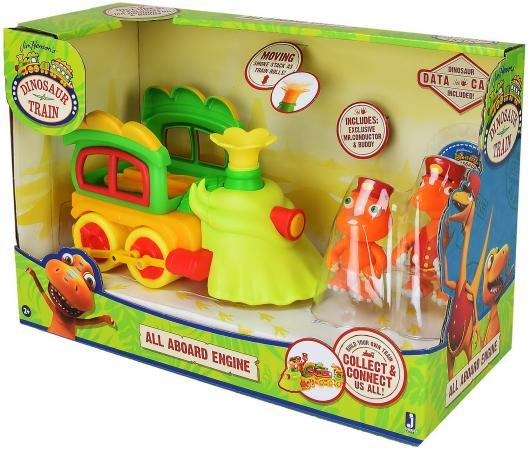 Набор фигурок Tomy Поезд динозавров - игровой набор с большим глав.вагоном, 2 подвижные фигурки 8 tomy набор из 25 фигурок в тубе хороший динозавр