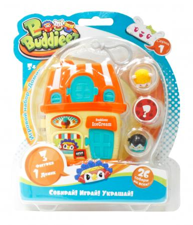 Игровой набор 1 Toy Bbuddieez оранж.домик для хранения с подвеской,3 шарма-перс.,18х14х2см,блистер игровой набор dave toy аэропорт с 1 машинкой