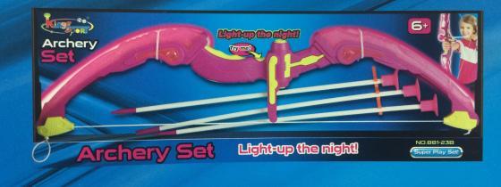 Набор лучницы 1toy лук со светом 21,5х5,5х63 см, стрелы, коробка кий для пула cuetec 1 рс черный 21 076 57 5