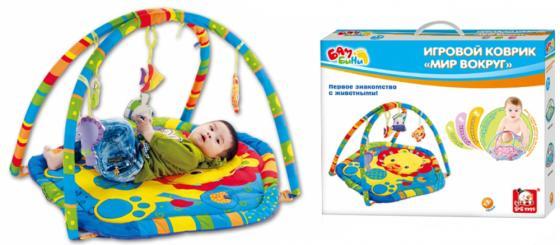 Развивающий коврик S+S Toys BAMBINI с дугой: мир вокруг нас СС76747 каталка s s toys слон с барабаном 0356 в пакете