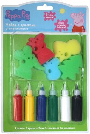 Набор для творчества Росмэн набор с красками и спонжиками, Peppa Pig пазл росмэн росмэн коврик пазл peppa pig учим азбуку с пеппой 36 деталей