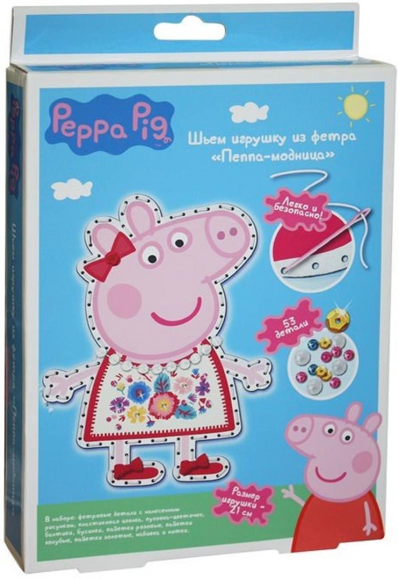Набор для шитья Peppa Pig игрушка из фетра Пеппа модница мягкие игрушки peppa pig мягкая игрушка пеппа модница 20 см