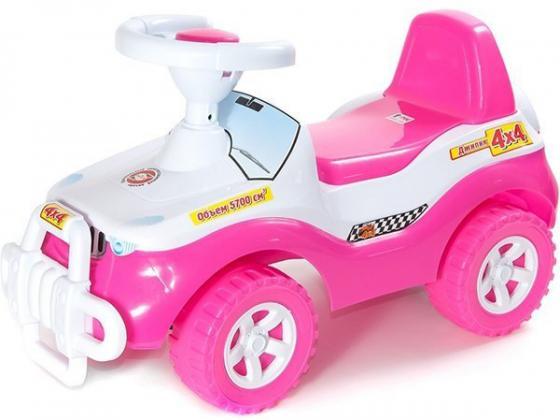 Каталка-машинка R-Toys Джипик пластик от 8 месяцев с клаксоном розовый ОР105к велосипед r toys galaxy лучик vivat 10 8 красный трехколёсный