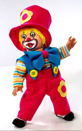 Кукла Arias Клоун 38 см, коробка (винил, текcтильные материалы) 8427614200114 кукла клоун arias 38см красный