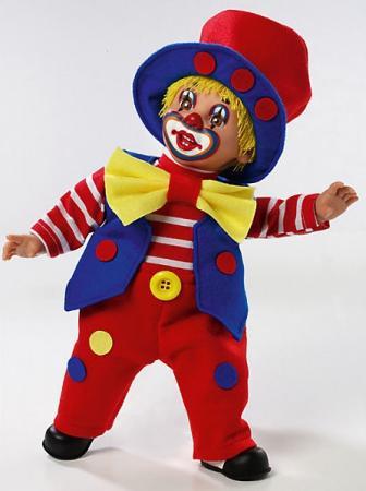 Кукла Arias Клоун 38 см, коробка (винил, текcтильные материалы) 8427614200121 кукла клоун arias 38см красный