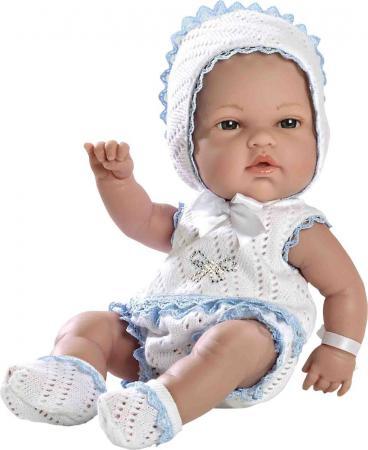 Купить Пупс Arias 33 см, в бело-голубом костюмчике со стразами Swarowskii, кор., Игрушки