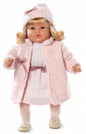 Кукла Arias 50 см, винил. в платье,колготах,мех.шубке и шапке,с функц.смех,нажать на живот,кор. anna karenina 1