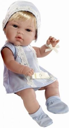 Купить Пупс Arias 33 см, блондинка в голубом платьице со стразами Swarowski, кор., Игрушки