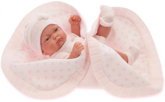 Кукла-младенец Munecas Antonio Juan Карла в розовом, 26 см 4069P кукла munecas antonio juan амалия 45 см в розовом 2810p
