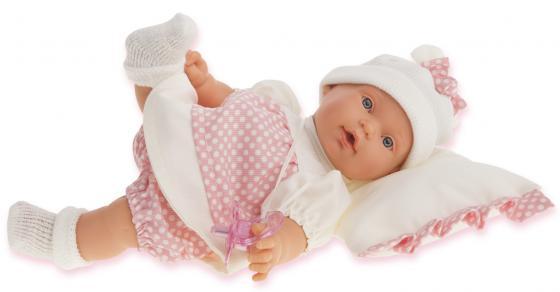 Кукла Munecas Antonio Juan Ланита на бежевой подушке., плач., 27 см 1111W кукла antonio juan кукла ланита pink 1110p