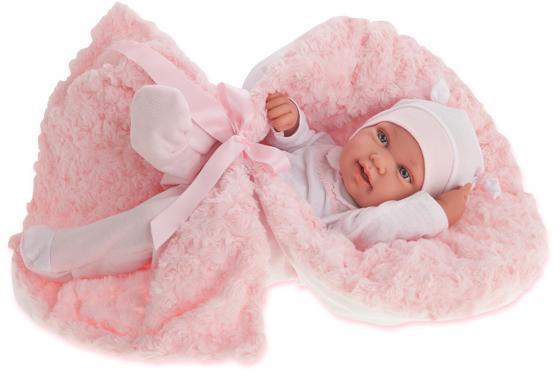 Кукла-младенец Munecas Antonio Juan Эдуарда в розовом, 42 см 5006P