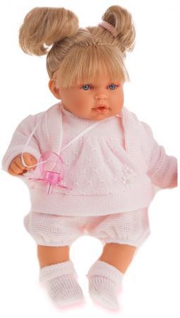 Кукла Munecas Antonio Juan Лана блондинка плач., 27 см 1112Bl munecas antonio juan munecas antonio juan кукла аделина блондинка 55 см