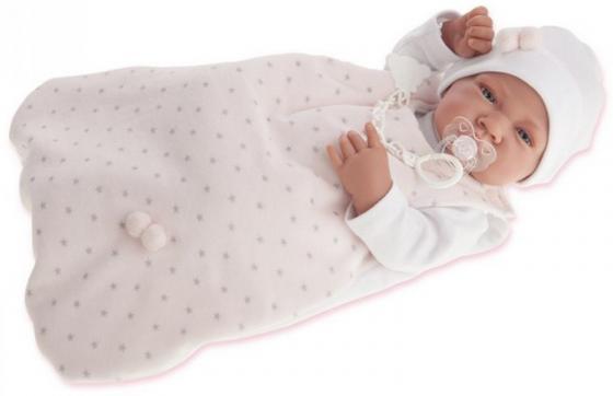 Кукла-младенец Munecas Antonio Juan Кармела в розовом, 42 см 5002P