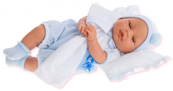 Кукла Munecas Antonio Juan  Габи в голубом, с открывающимися глазами, плач, 37 см 1444B