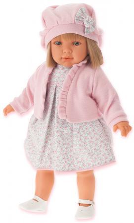Кукла Munecas Antonio Juan Аделина в розовом, 55 см munecas antonio juan munecas antonio juan кукла аделина блондинка 55 см