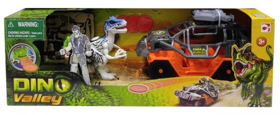Игровой набор CHAP MEI Динозавр Тиранозавр и охотник на джипе (стреляет) 520152-2 игровые наборы chap mei игровой набор динозавр трицератопс и охотник на вертолете стрельба