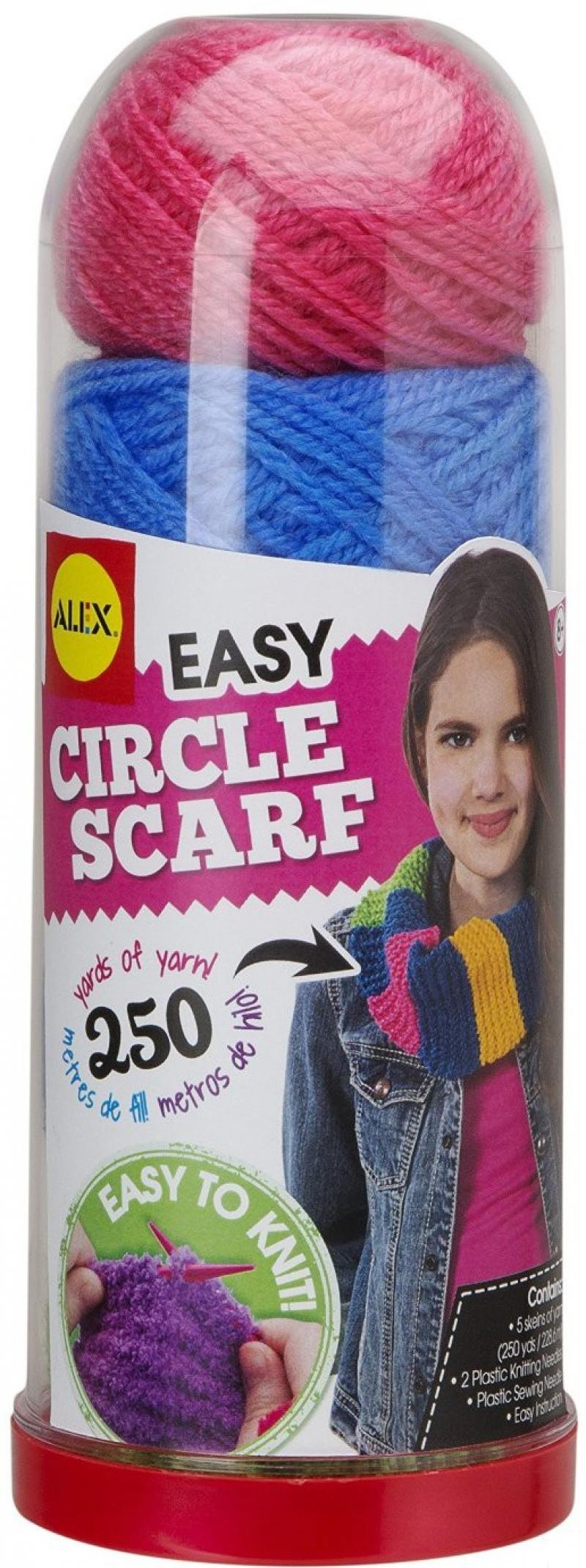 Набор для вязания Alex Круговой шарф, от 8 лет 115C