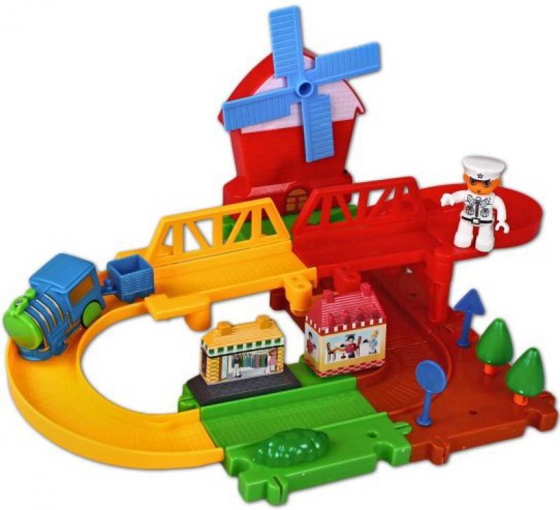 Железная дорога Голубая стрела Веселые горки, конструктор-пазл 87181 железная дорога голубая стрела голубая стрела 87197