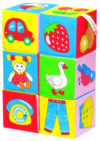 Кубики МЯКИШИ 001 Предметы 6 шт