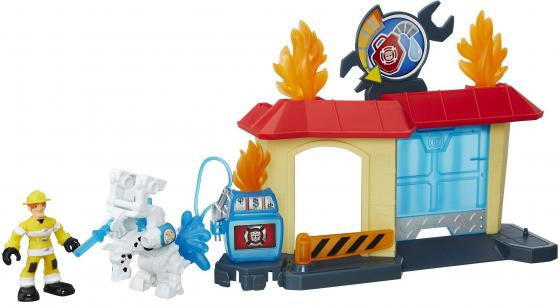 Игровой набор Hasbro Playskool Heroes ТРАНСФОРМЕРЫ СПАСАТЕЛИ: гоночные машины + спасатели B5582 + B4 playskool игровой набор трансформеры штаб спасателей