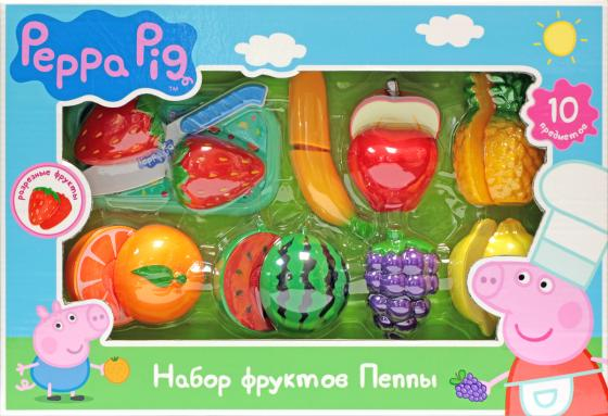 Игровой набор фруктов Peppa Pig 10 предметов peppa pig транспорт 01565