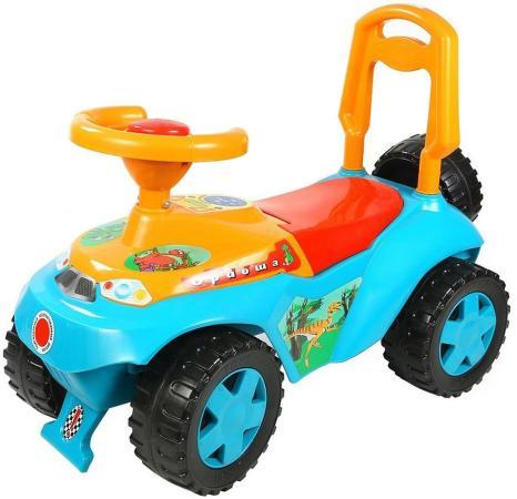 Каталка-машинка R-Toys Ориоша 6695 пластик от 10 месяцев со звуком голубой цена